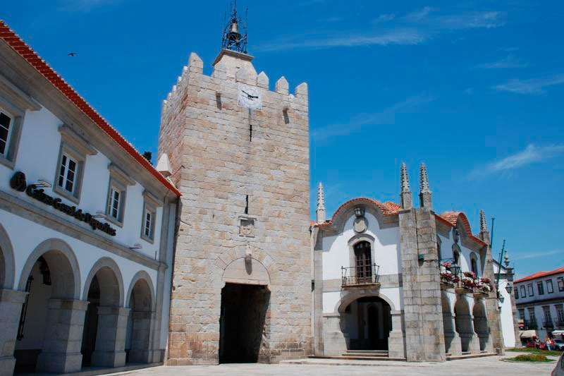 Clock tower from Caminha